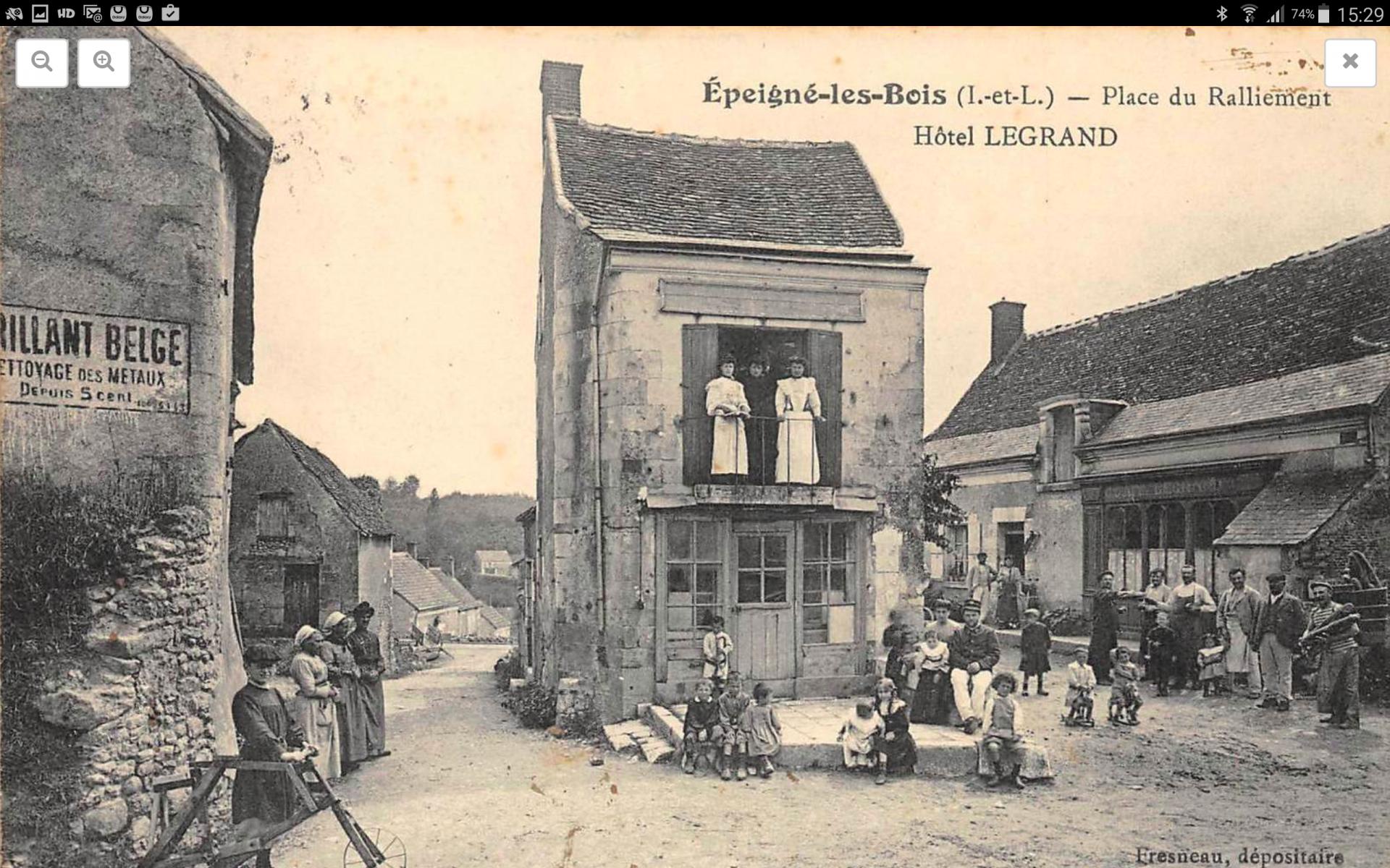 L'hôtel d'Epeigné vers 1910
